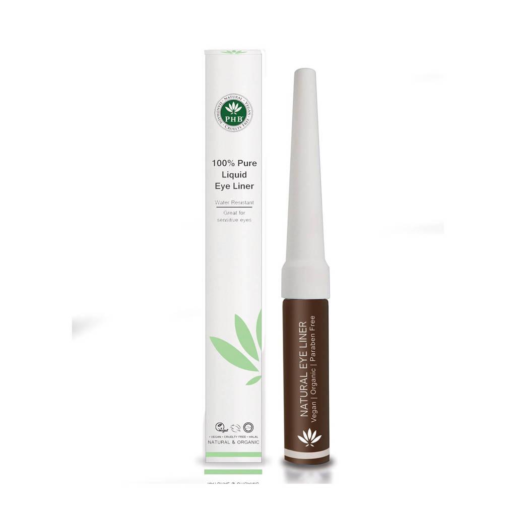 PHB Ethical Beauty liquid eyeliner bruin, Bruin