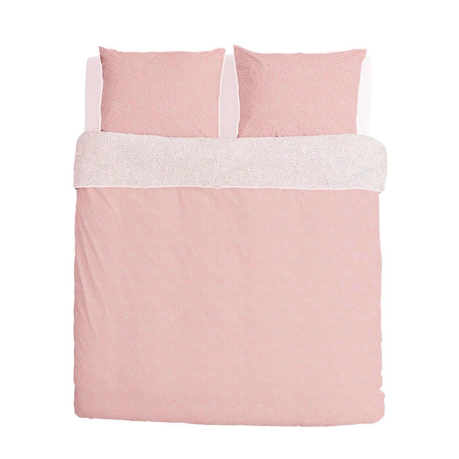 walra flanellen dekbedovertrek lits jumeaux roze