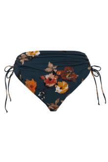 Mix & Match corrigerende bikinibroekje +size met bloemenprint blauw