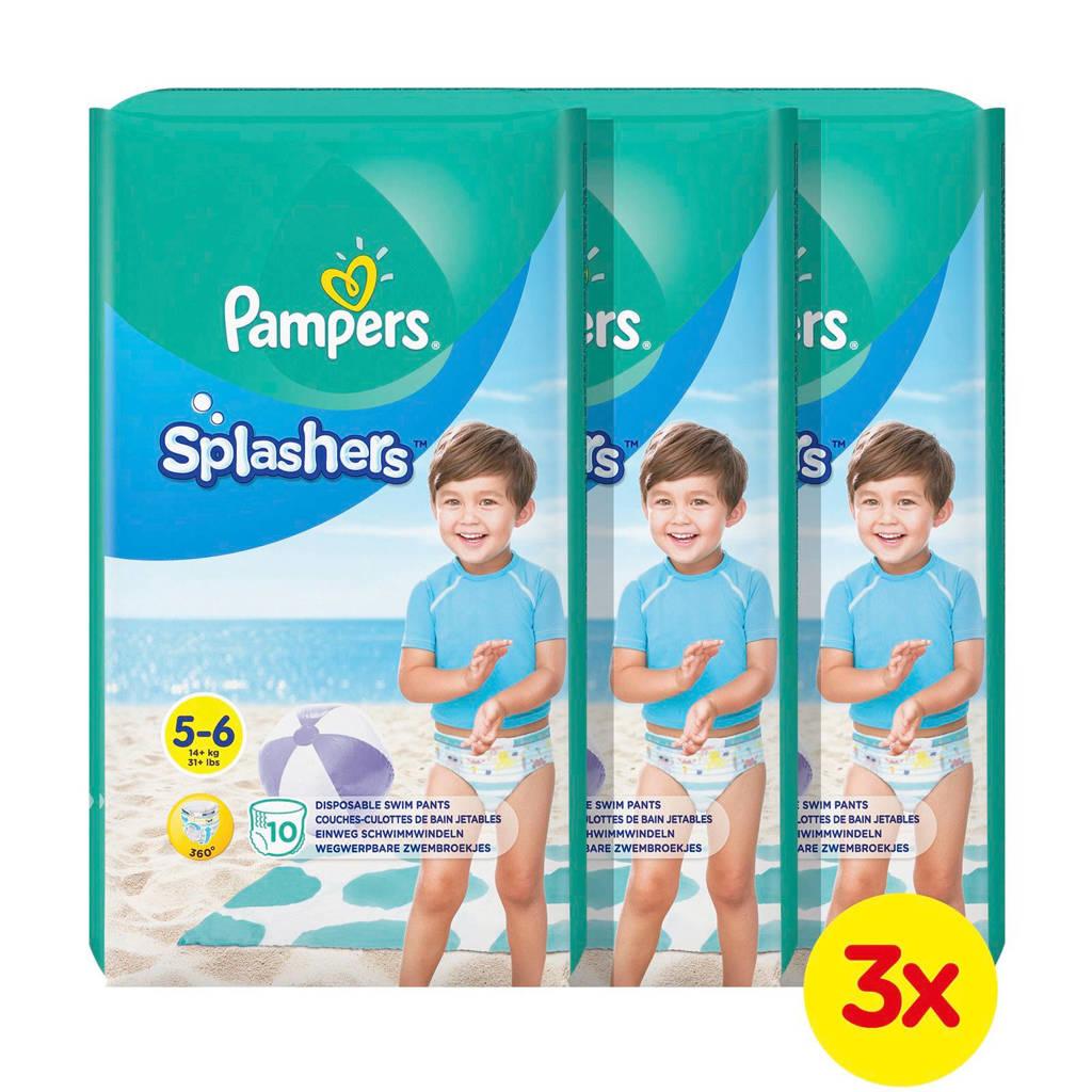 Pampers Splashers maat 5-6 (14+ kg) 30 wegwerpbare zwemluiers, 30 stuks