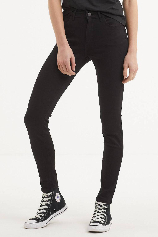 Wrangler high waist skinny jeans zwart, Zwart