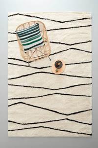 whkmp's own vloerkleed  (290x200 cm), Crème/zwart