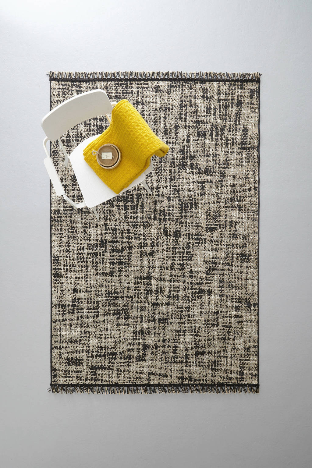 whkmp's own vloerkleed (230x160 cm)  (230x160 cm), Zwart/jute