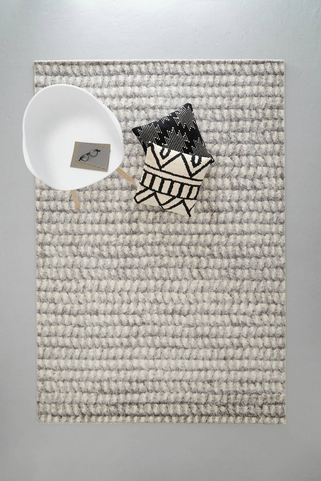 whkmp's own vloerkleed  (290x200 cm), Grijs/ecru