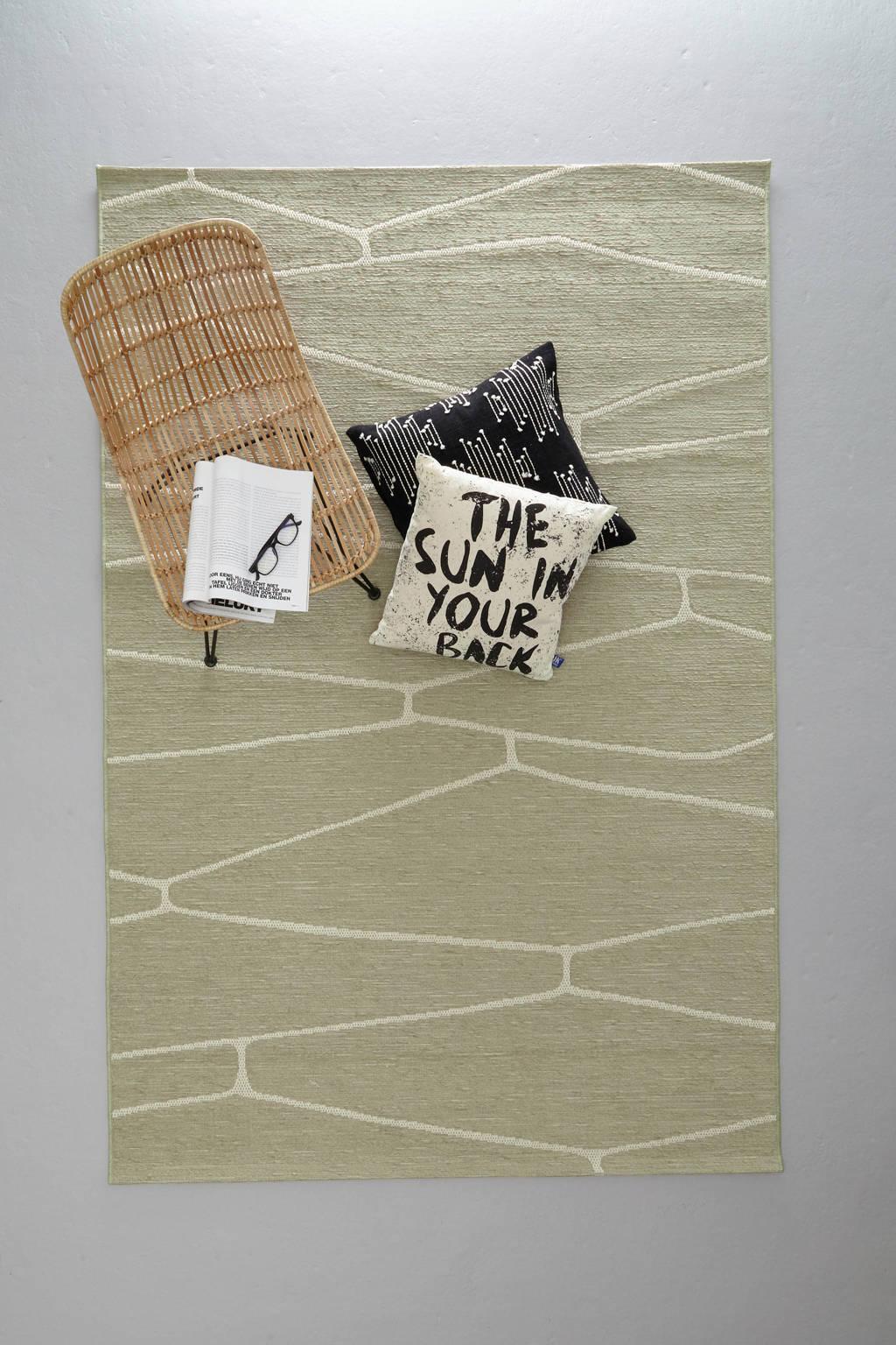 whkmp's own vloerkleed  (230x160 cm), Groen/ecru