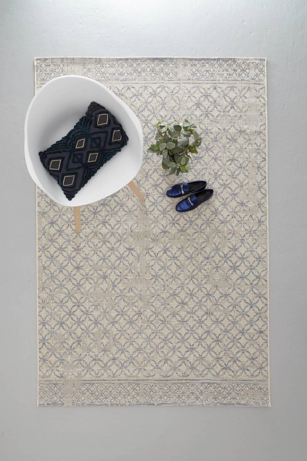 whkmp's own vloerkleed  (230x160 cm), Roomwit/blauw