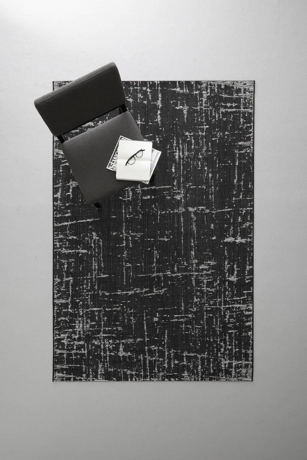 whkmp's own vloerkleed (230x160 xcm)  (230x160), Zwart/krijt