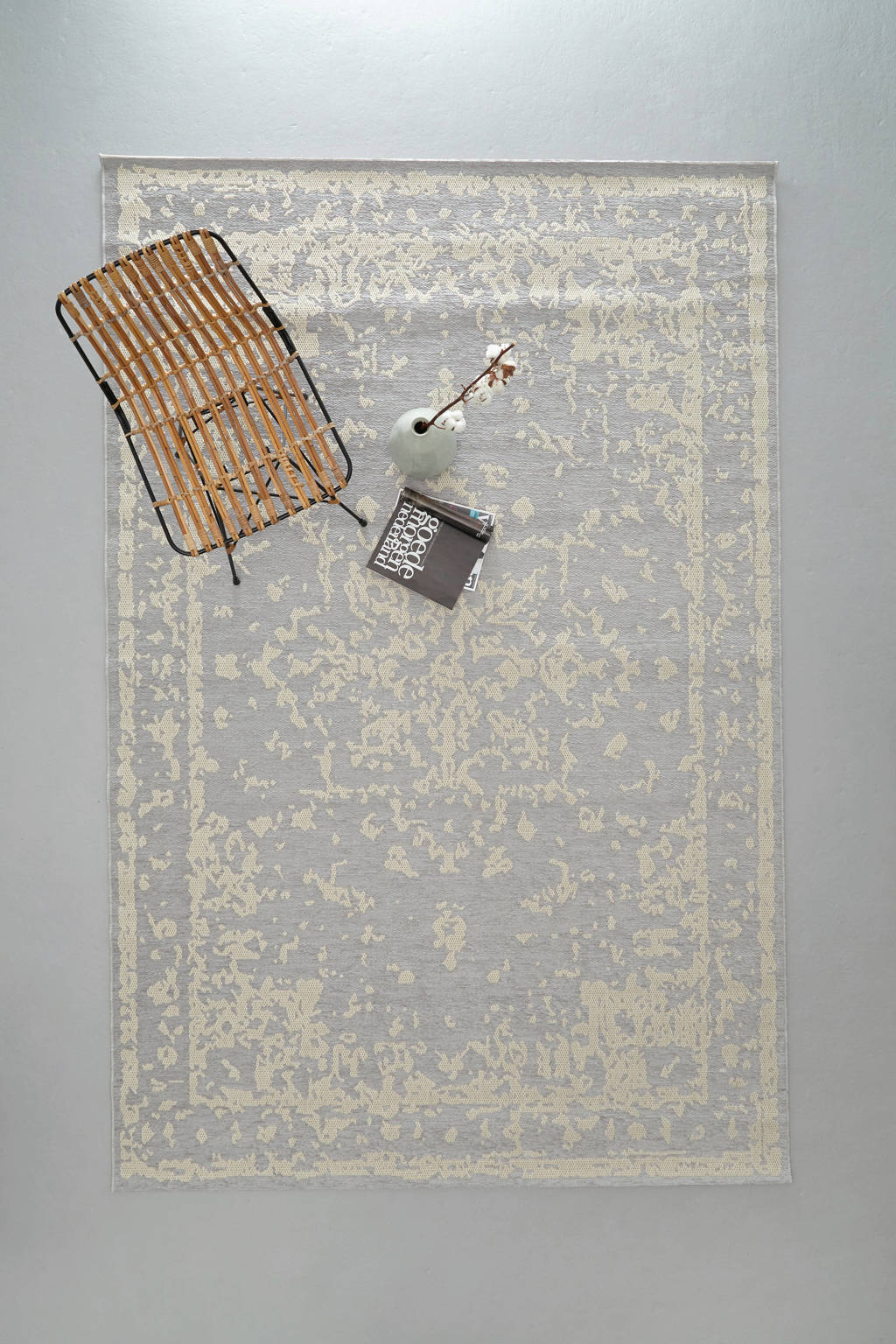 whkmp's own vloerkleed  (290x200 cm), Lichtgrijs/ecru