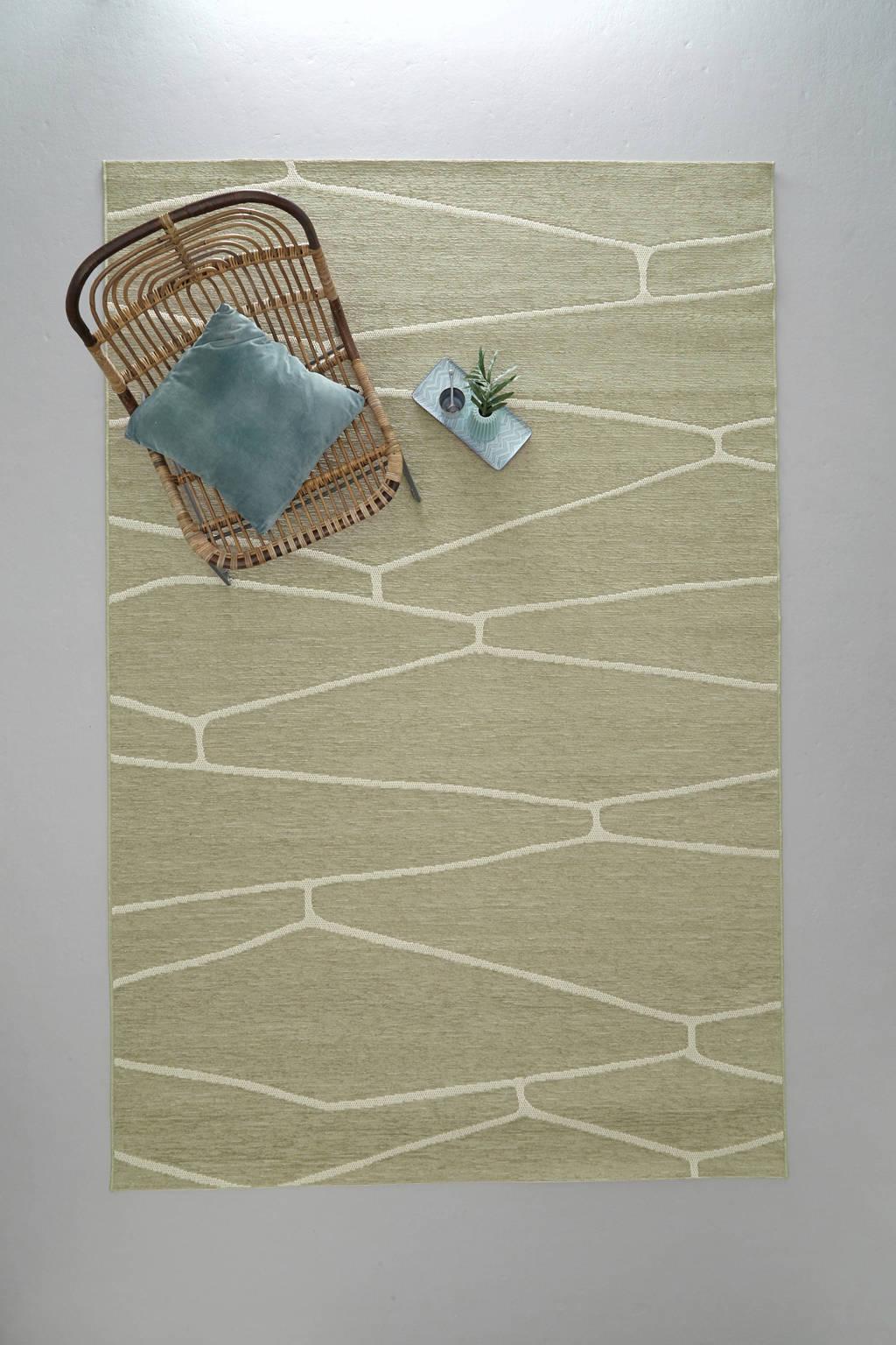 whkmp's own vloerkleed  (290x200 cm), Groen/ecru