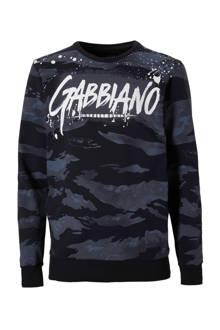 sweater met camouflageprint  donkerblauw