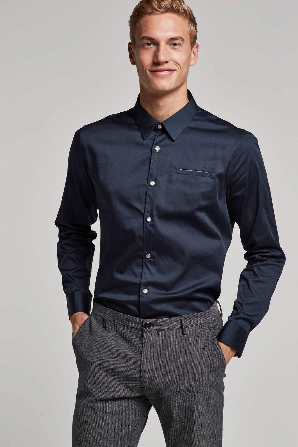 No Excess overhemd, Blauw