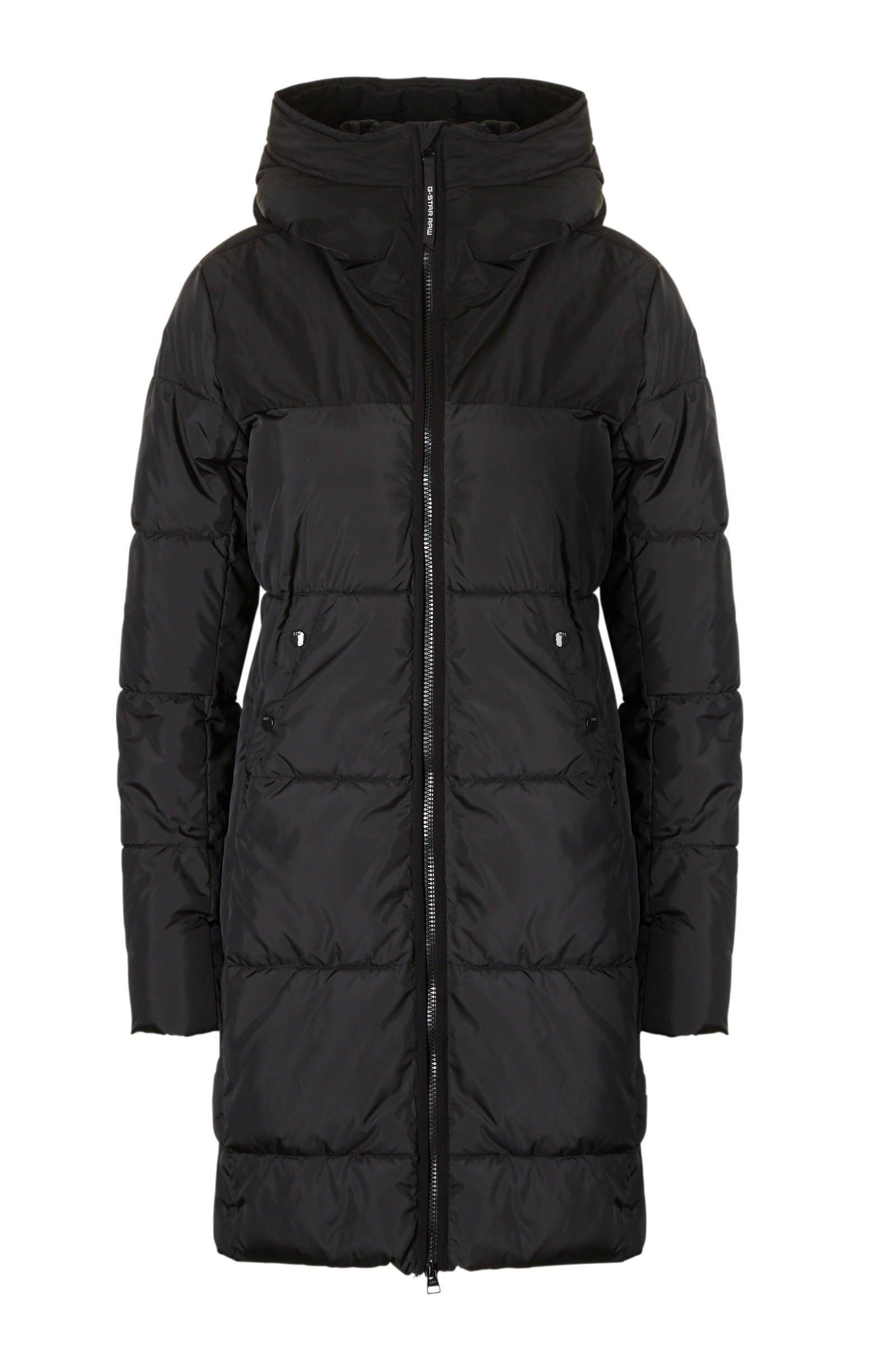 lange winterjas zwart