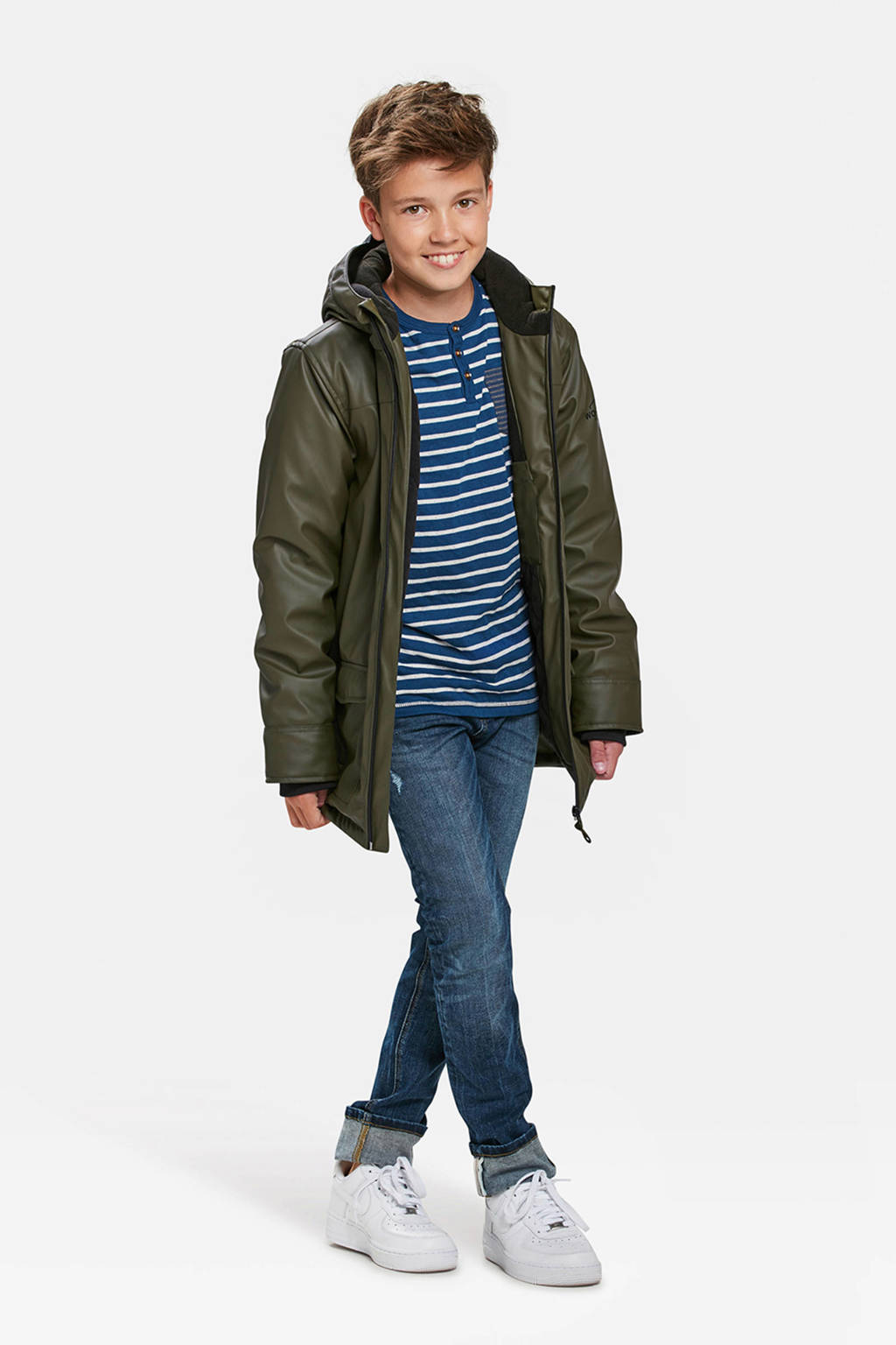 WE Fashion kids regenjas, Donkergroen