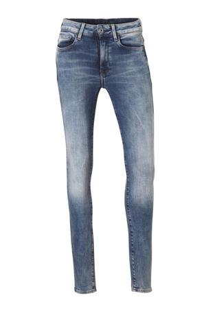 high waist skinny jeans medium aged