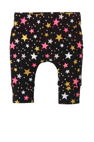 newborn legging met sterren antraciet