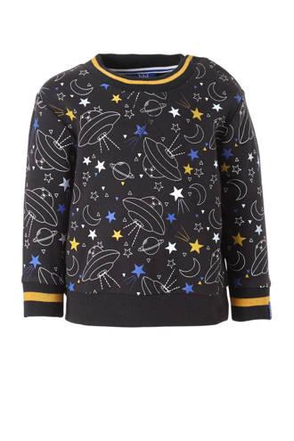 sweater met ruimteprint antraciet