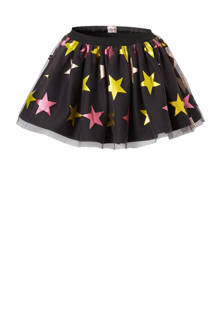 tule rok met sterren antraciet