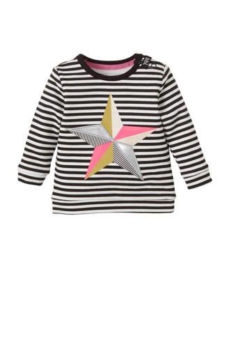 newborn gestreepte sweater met ster