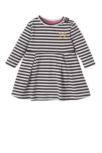 newborn jurk met strepen antraciet