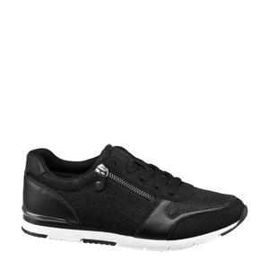 sneakers met glitters zwart