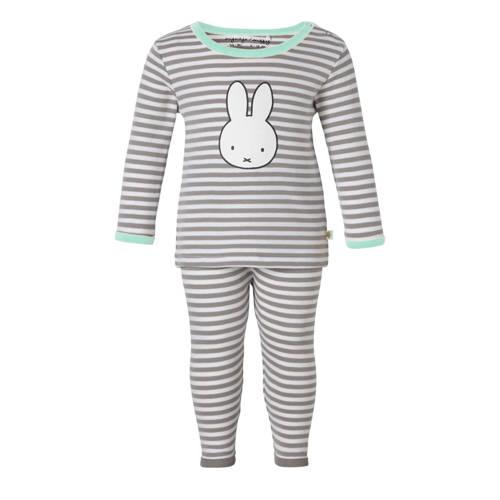 gestreepte pyjama grijs