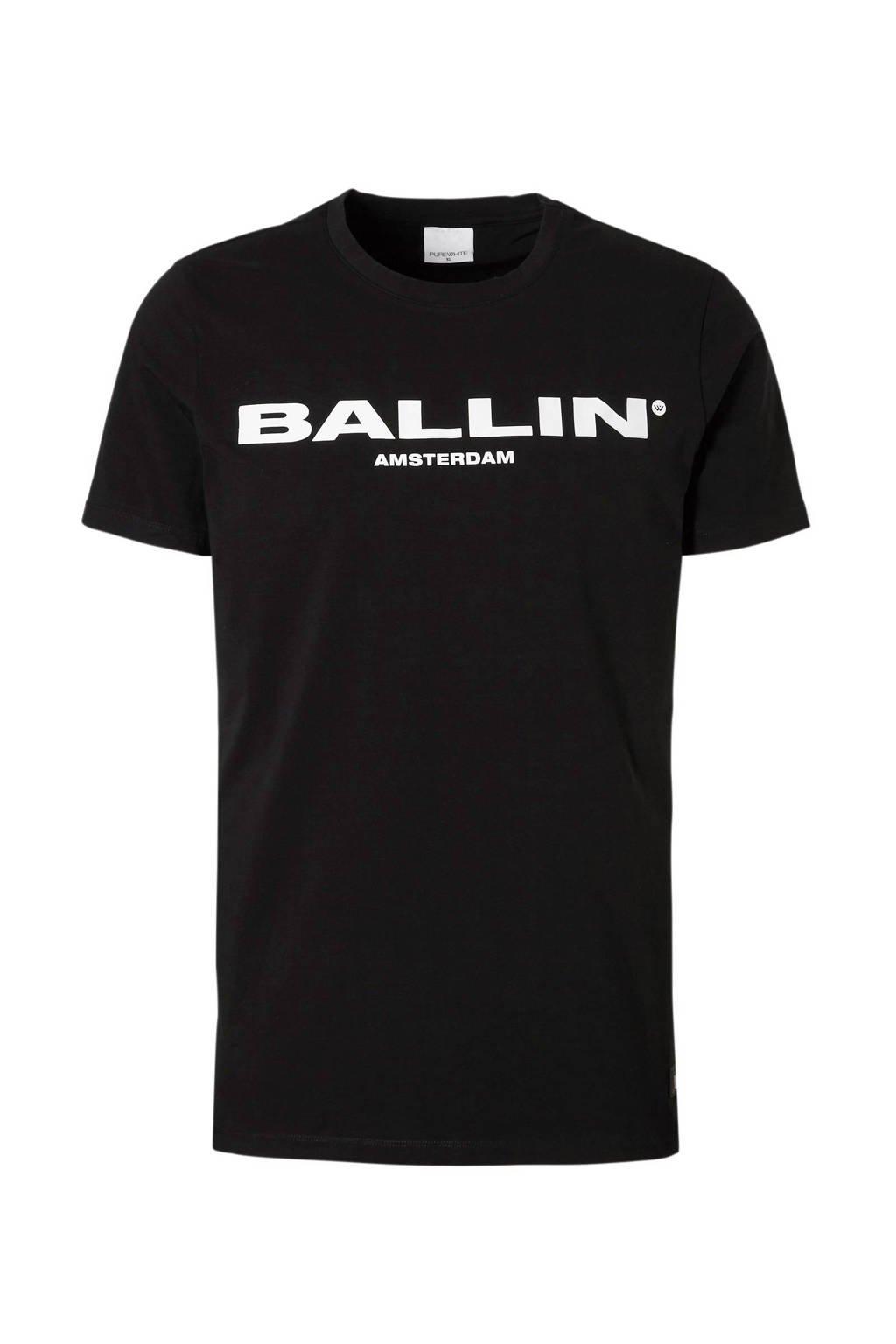 Ballin by Purewhite Original tee, Zwart/wit