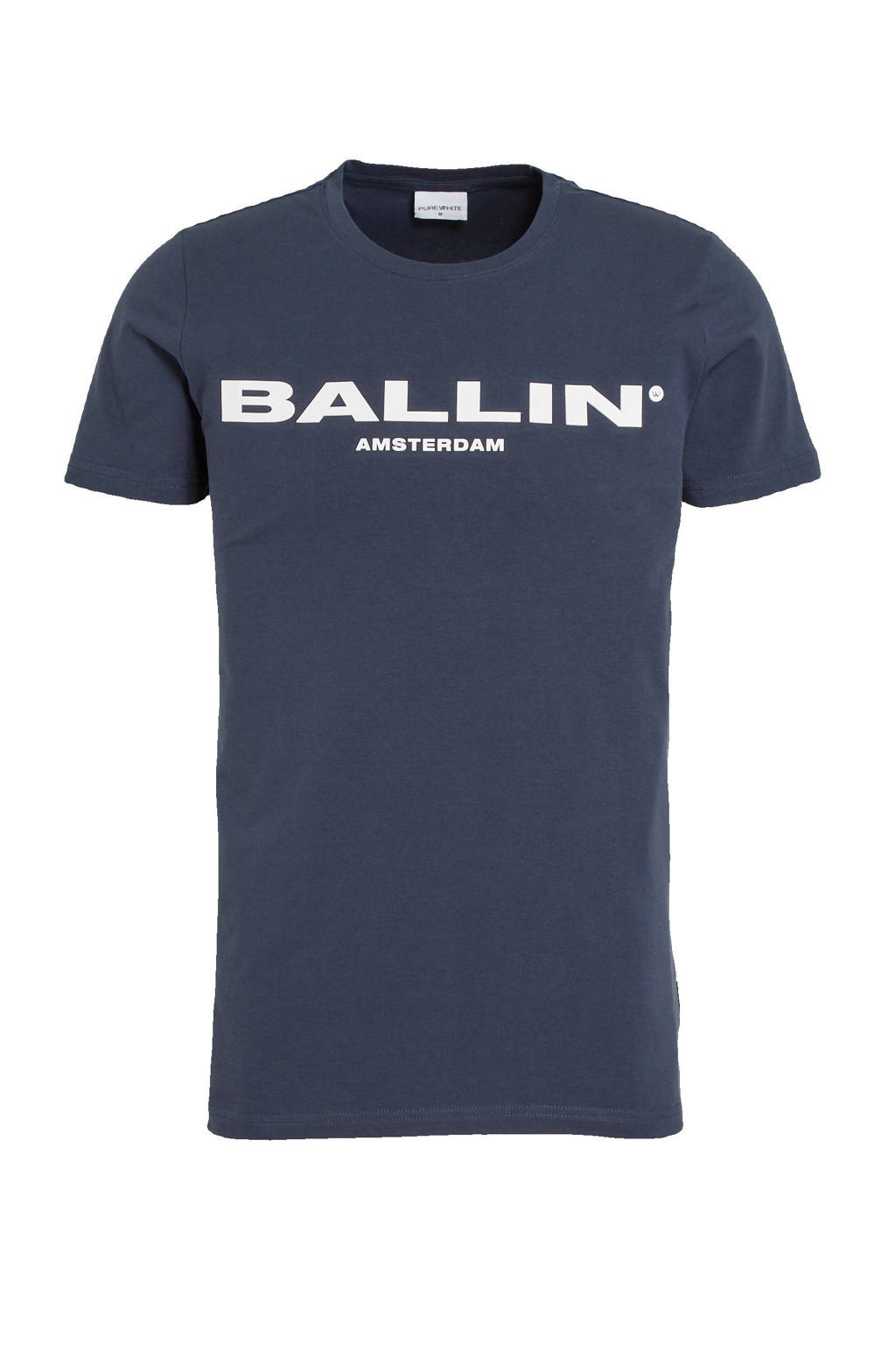 Ballin by Purewhite T-shirt met logo marine, Marine