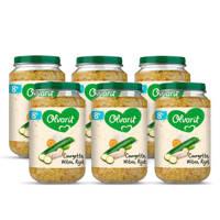 Olvarit Courgette Witvis Rijst - babyhapje voor baby's vanaf 8+ maanden - 6x200 gram babyvoeding in een maaltijdpotje