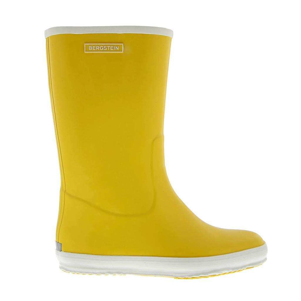 Bergstein regenlaarzen geel, Geel/wit