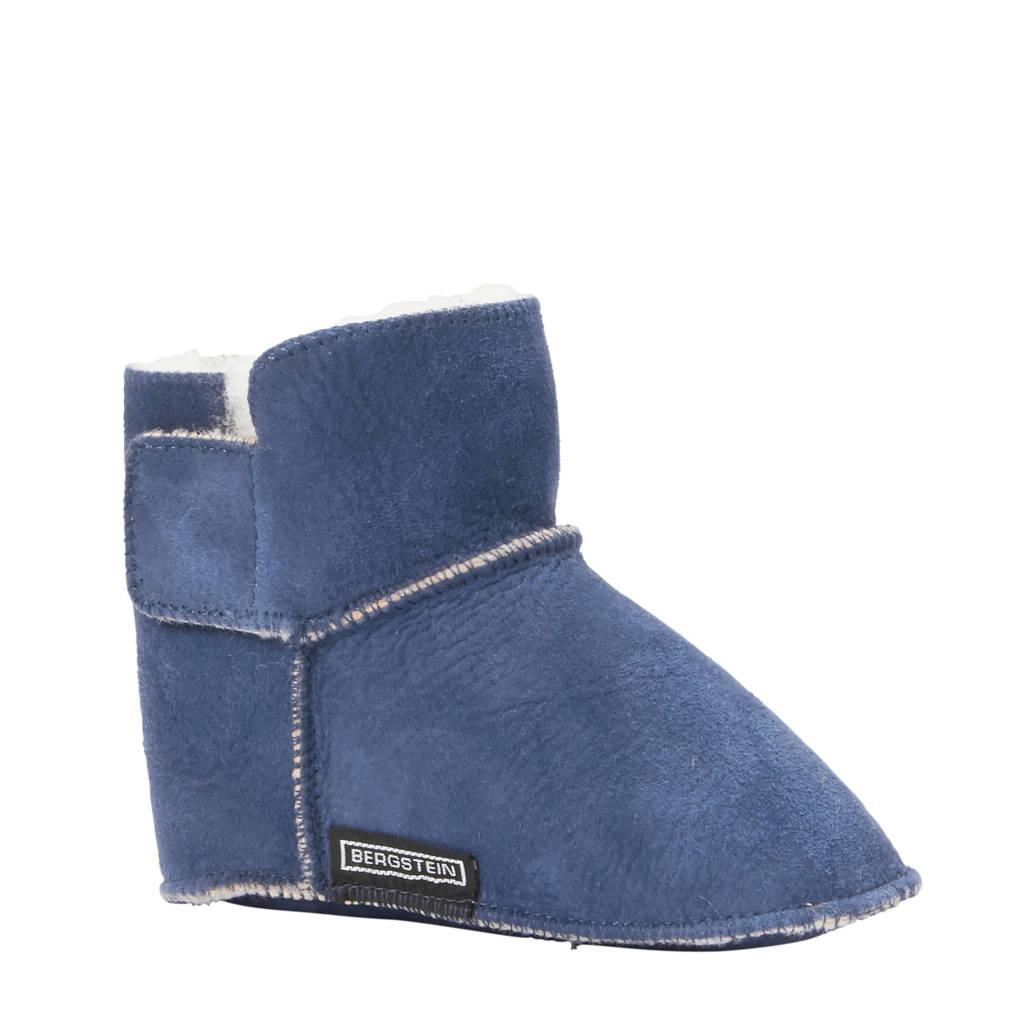 Bergstein Teddy suède pantoffels blauw jongens, Blauw