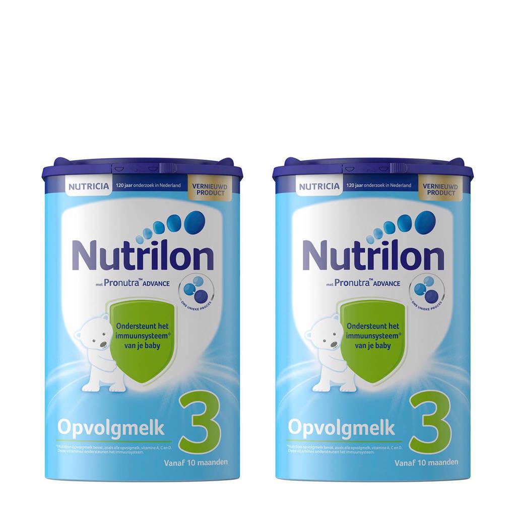 Nutrilon Standaard 3 met Pronutra™ Advance opvolgmelk (2 stuks), 2 x 800 gram