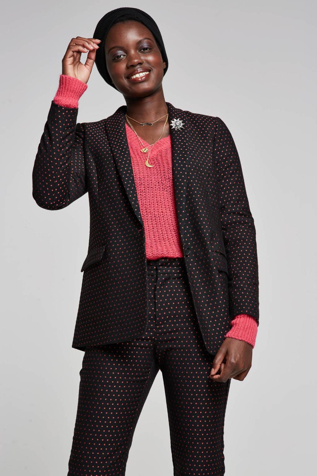 Scotch & Soda Tailored blazer, Zwart