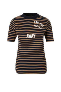 Scotch & Soda gestreept T-shirt met print