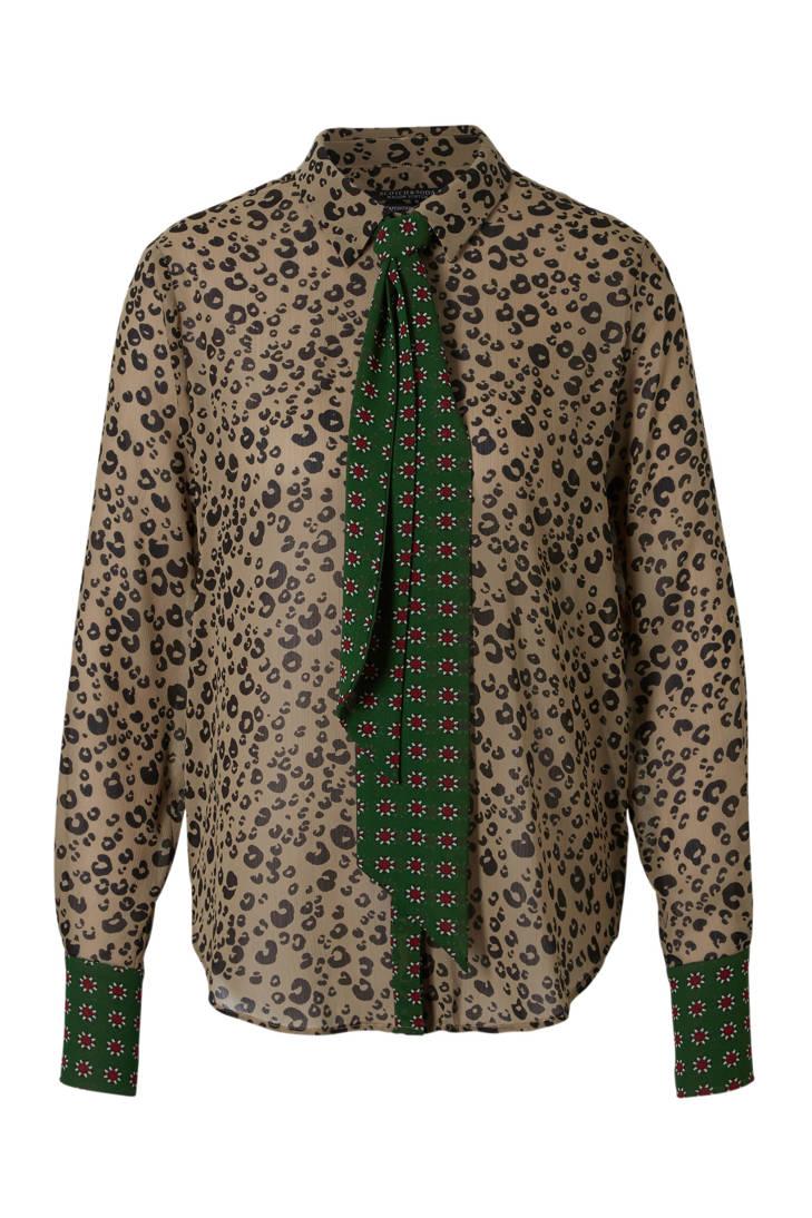 een Scotch Soda panterprint blouse in aan7gxBqw