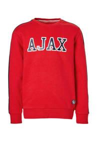 Ajax sweater Rowen rood, Rood/donkerblauw/wit