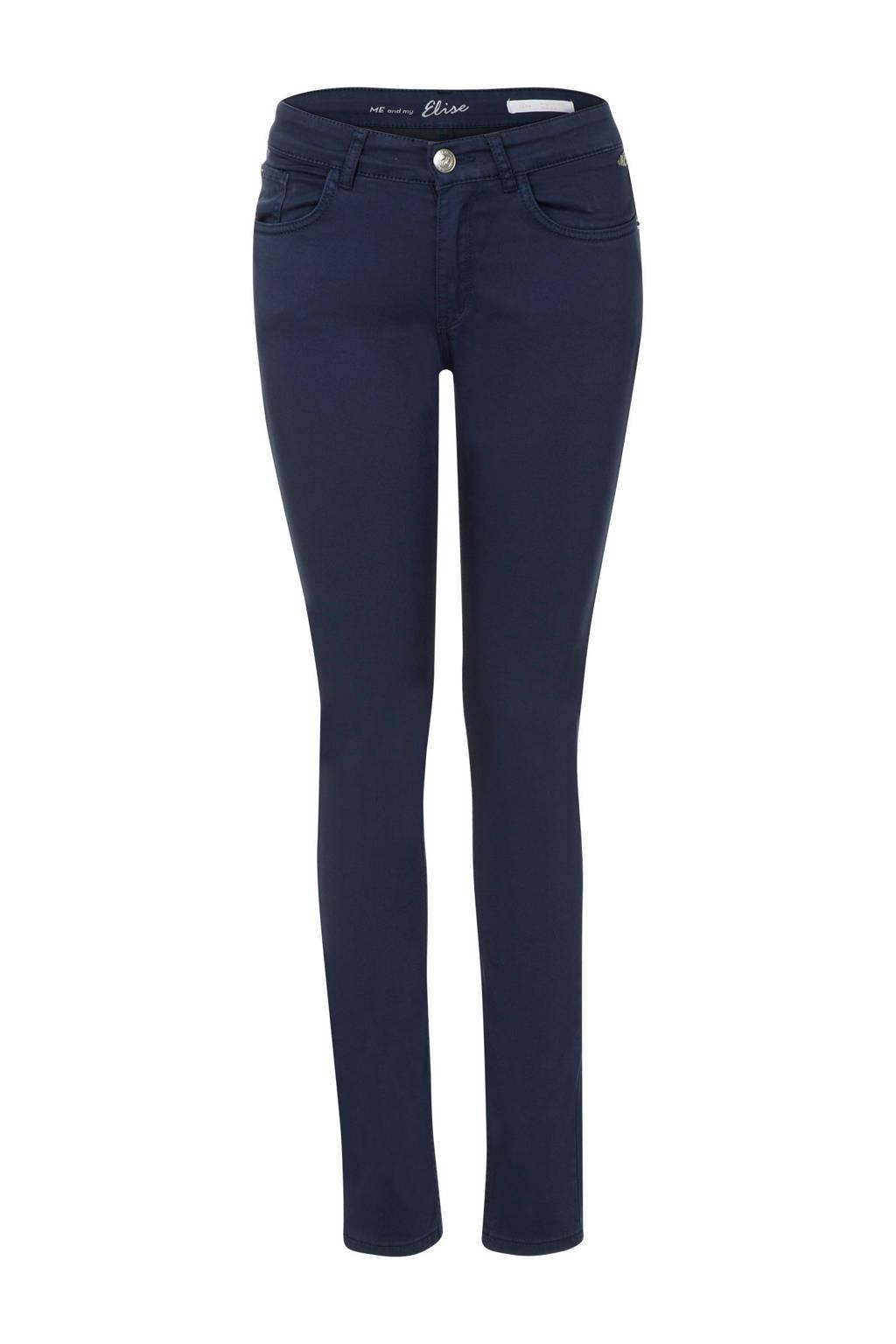 Miss Etam Regulier slim fit broek donkerblauw, Donkerblauw
