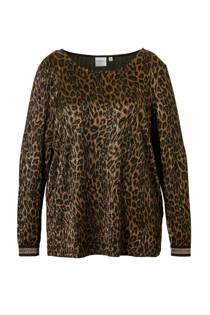 JUNAROSE top met luipaardprint (dames)