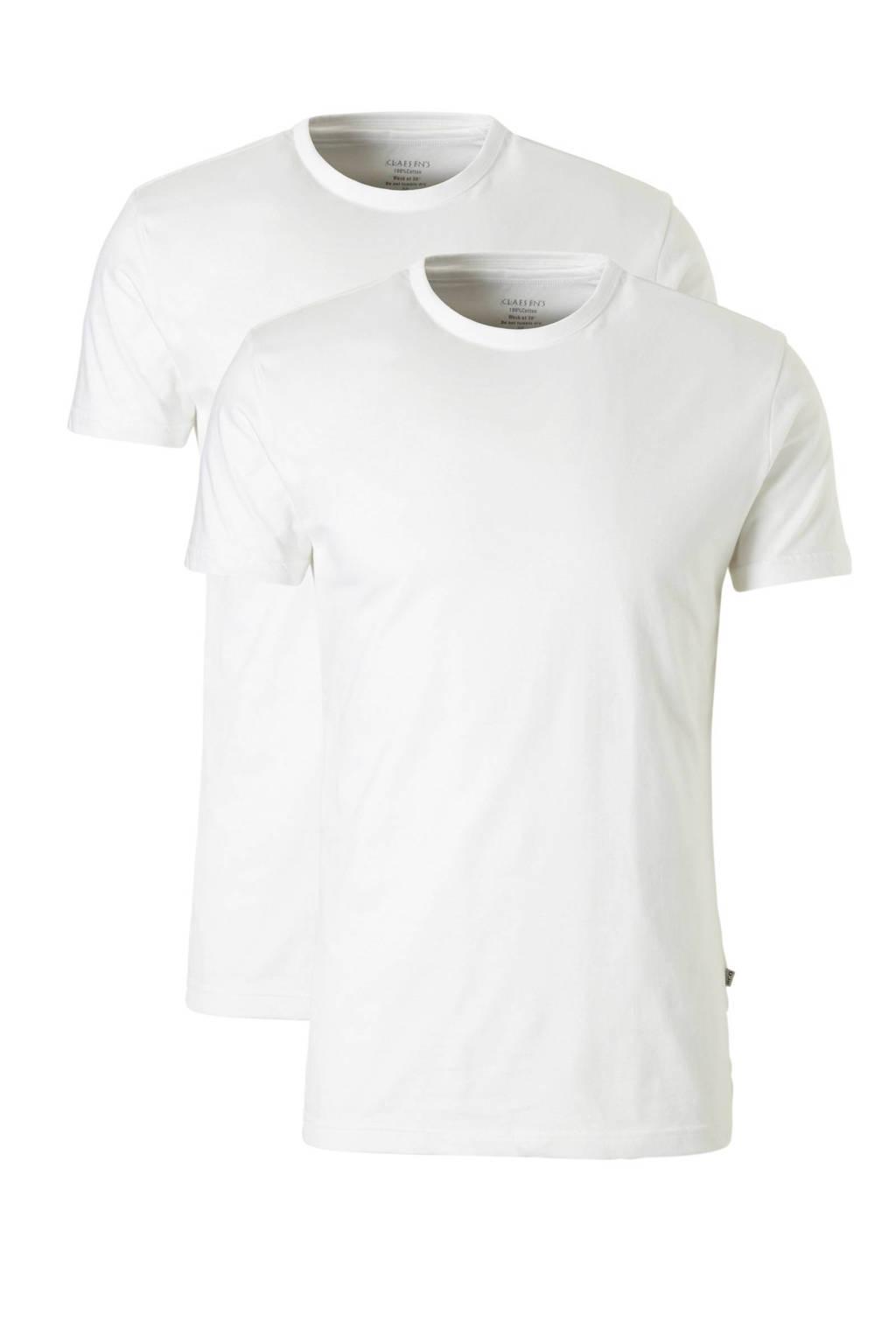 Claesen's T-shirt (set van 2), Wit
