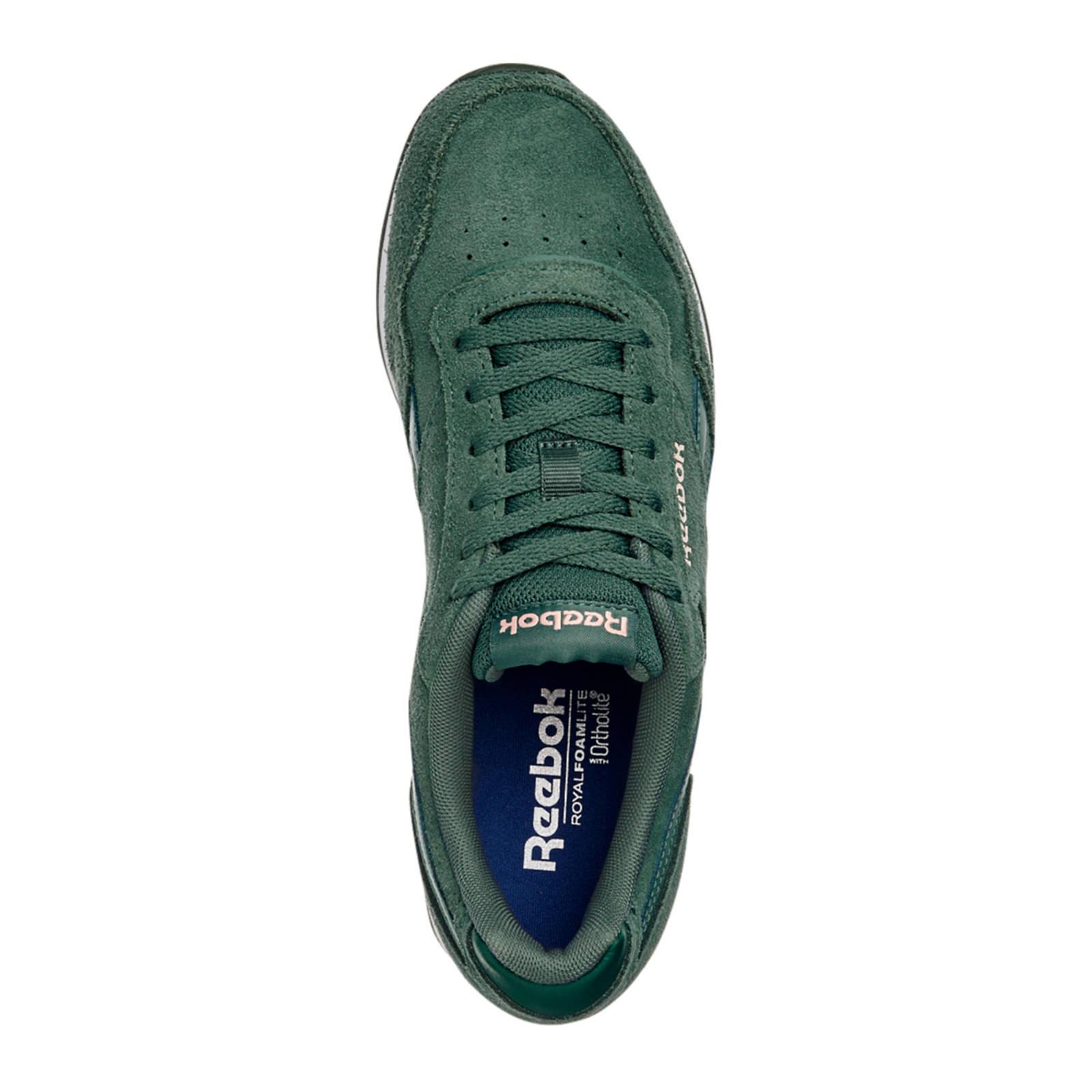 4f1db2c0b90 Reebok Royal Glide syède sneakers groen   wehkamp