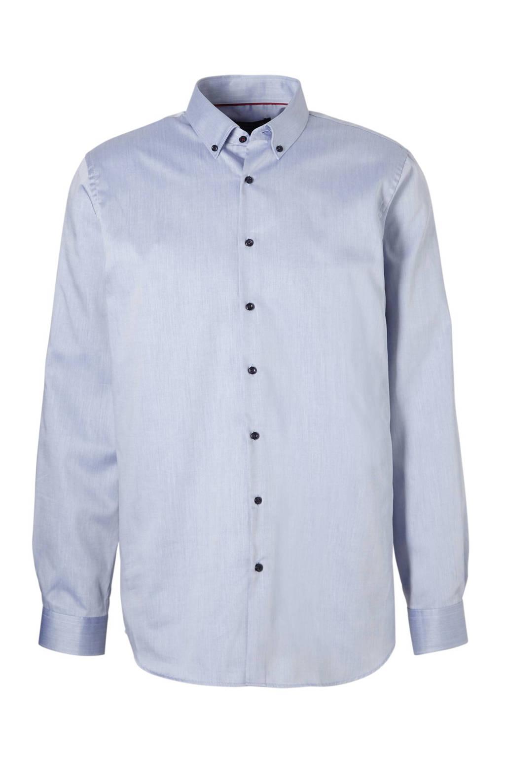 Overhemd Blauw.C A Angelo Litrico Slim Fit Overhemd Blauw Wehkamp