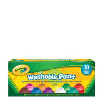 afwasbare verf 10 potjes