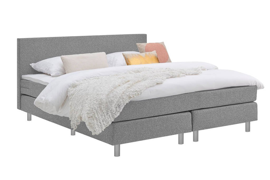 Beter Bed complete boxspring Cisano, Lichtgrijs