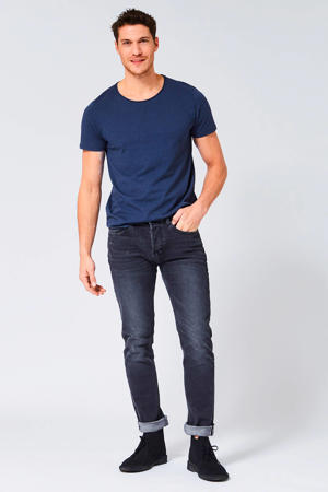 tapered fit jeans Selvedge stonewashed grijs