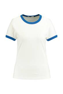 gestreept T-shirt Emmie ecru/blauw