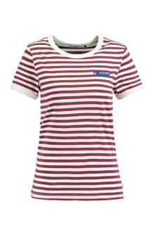 gestreept T-shirt Emmie aubergine