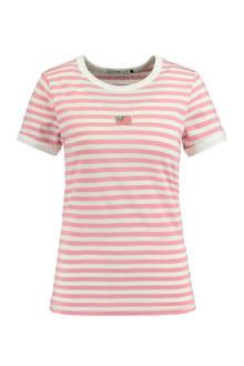 gestreept T-shirt Emmie roze