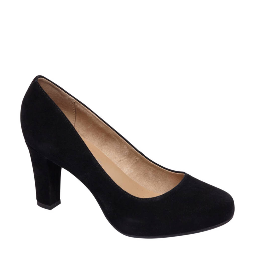 vanHaren 5th Avenue suède pumps zwart, Zwart