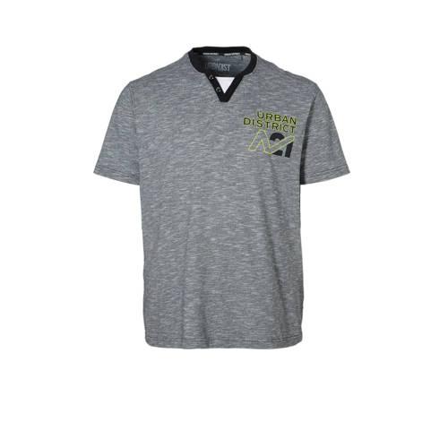 T-shirt met tekstprint zwart-wit