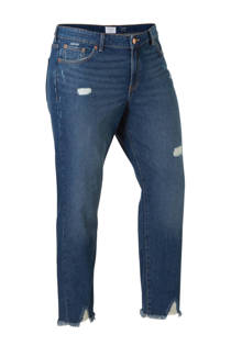 Violeta by Mango cropped girlfriend jeans Claudia met slijtage (dames)
