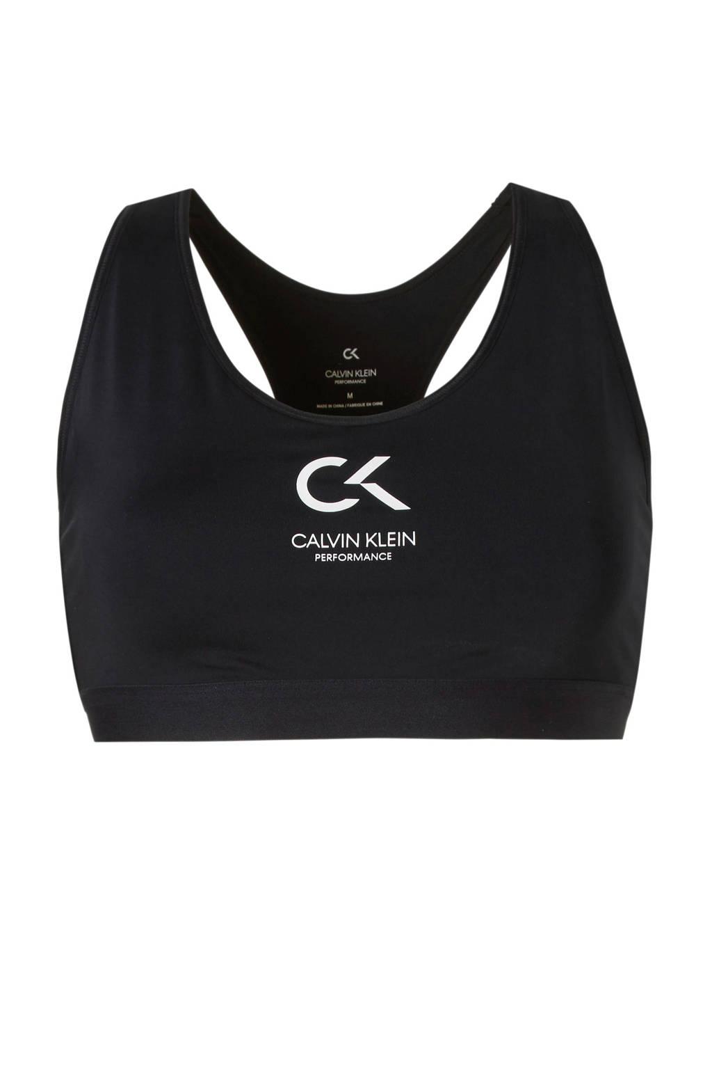 Calvin Klein Performance sportbh zwart, Zwart